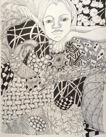 "Zentangle adapted c. 8"" by 11"""